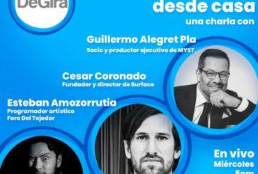 Entretenimiento desde casa: una charla con Esteban Amozorrutia, Cesar Coronado y Guillermo Alegret